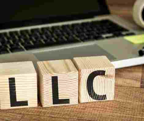 LLC letter blocks with computer