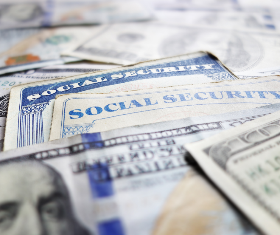 Image of Social Security card and money, implying fraud